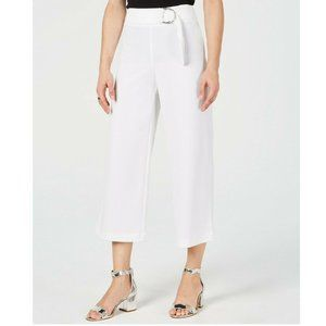 INC 14 White O-Ring Culotte Pants NWT CF23